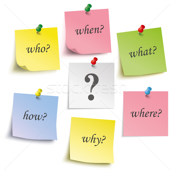 Question Engl Colored Sticks Pins Stock photo © limbi007
