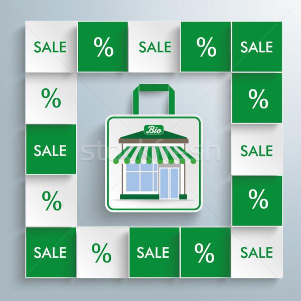 Colored Squares Bio Shop Stock photo © limbi007