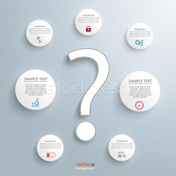 質問 サークル インフォグラフィック 白 疑問符 グレー ストックフォト © limbi007