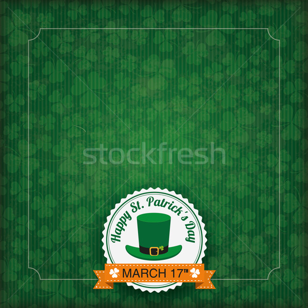 St. Patricks Day Vintage Cover Stock photo © limbi007