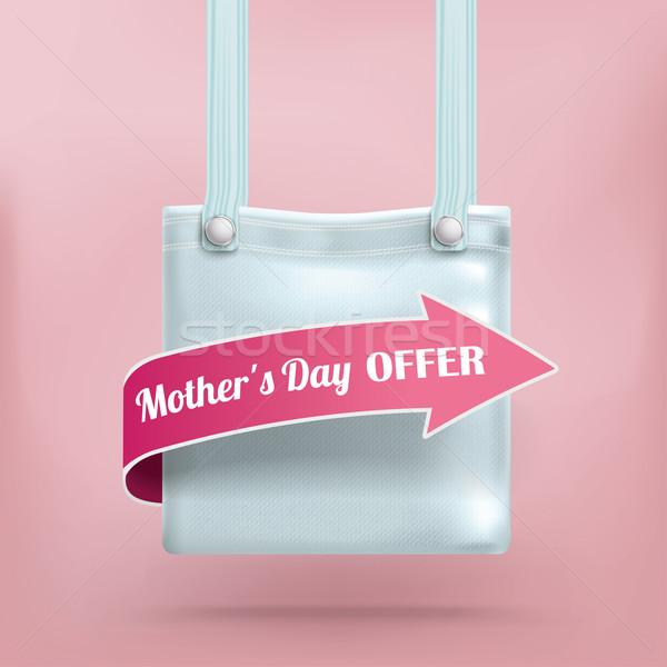 Purse Bag Pink Background Mothersday Offer Stock photo © limbi007