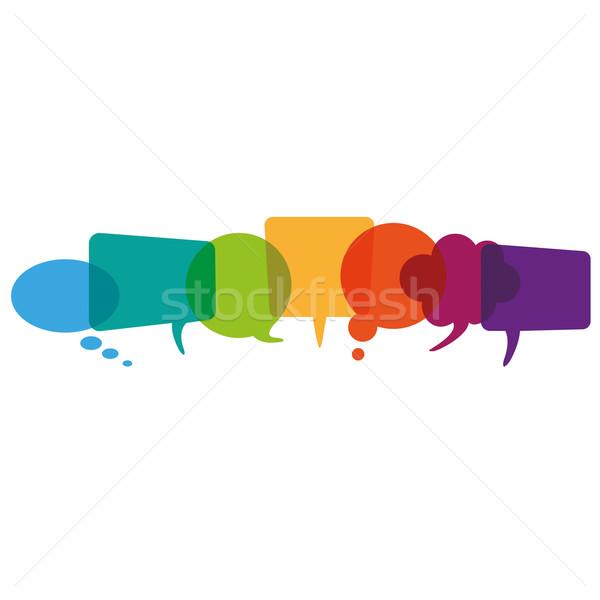 Colored Speech Bubbles Header Stock photo © limbi007