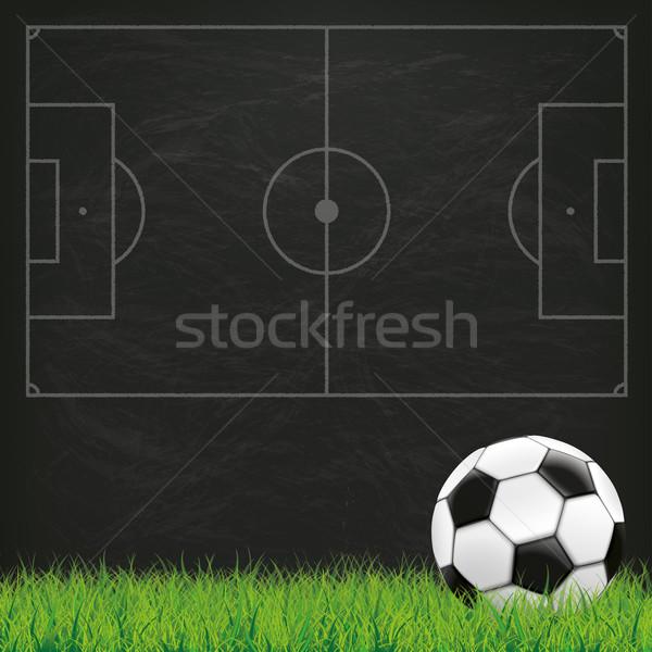 Foto stock: Fútbol · suelo · pizarra · hierba · verde · hierba · eps