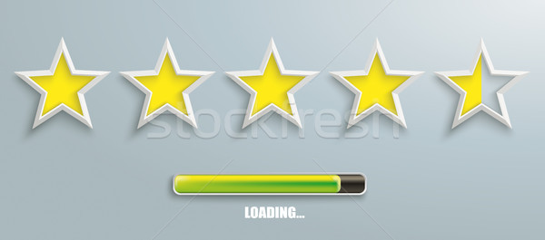 5 Stars Rating Header Loading Stock photo © limbi007