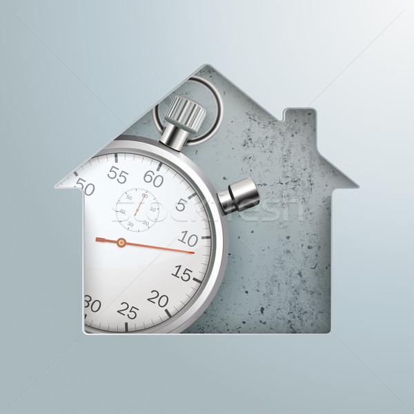 House Hole Stopwatch Concrete Stock photo © limbi007