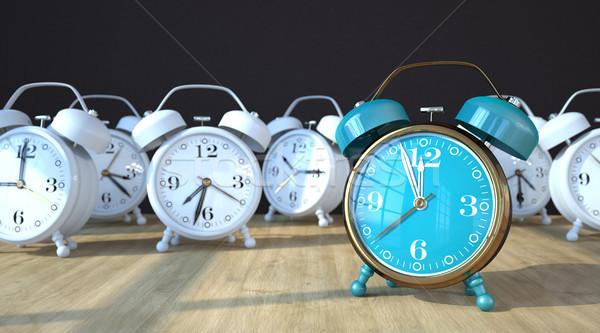 Mesa de madera clásico 3d mesa tiempo velocidad Foto stock © limbi007