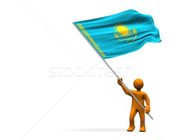 Fan of Kazakhstan Stock photo © limbi007