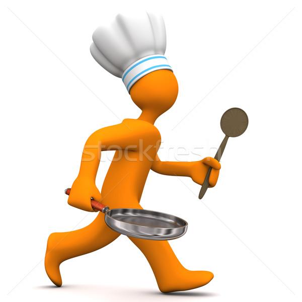Chef Running Stock photo © limbi007