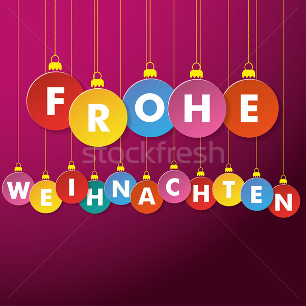 Frohe Weihnachten Papierkugeln Stock photo © limbi007
