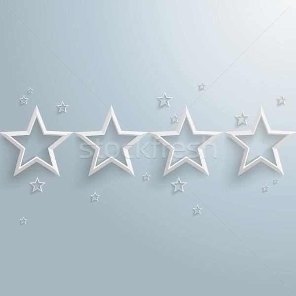 White Stars Dust Line US Stock photo © limbi007