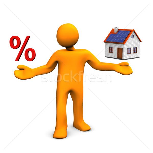 Manikin House Percent Stock photo © limbi007