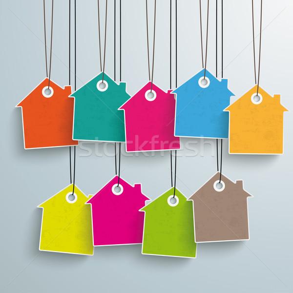 9 Colored Price Sticker Stock photo © limbi007