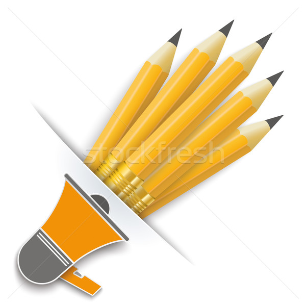 Convert Pencils Bullhorn Stock photo © limbi007
