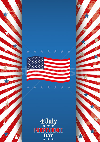 4th July Oblong Flyer Banner Stock photo © limbi007