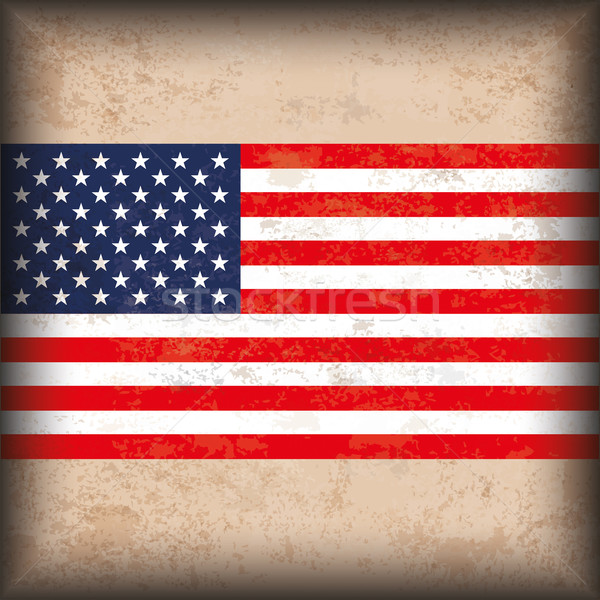 Vintage Background US Flag Stock photo © limbi007