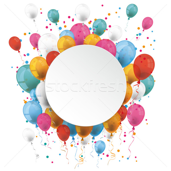White Paper Circle Balloons Stock photo © limbi007