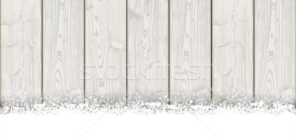 Lon Christmas Card Wooden Laths Stock photo © limbi007