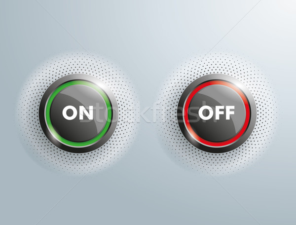 2 Buttons Business On OFF Halftone Stock photo © limbi007