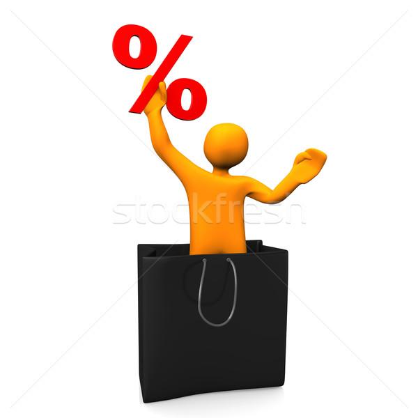 Manikin Shopping Bag Percent Stock photo © limbi007