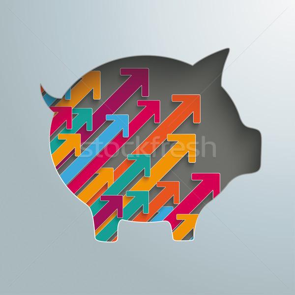 Piggy bank crescimento projeto eps Foto stock © limbi007