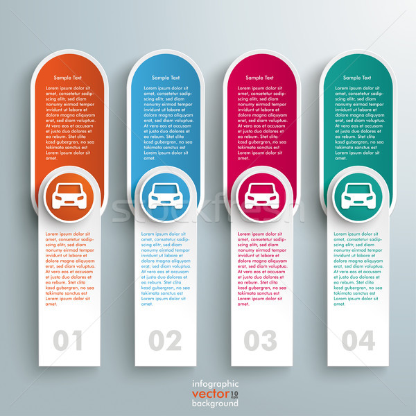 Oblong Round Banners Colored Circles Cars Stock photo © limbi007