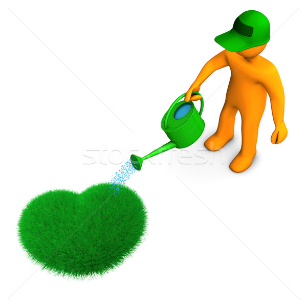 Gardener With Heart Stock photo © limbi007