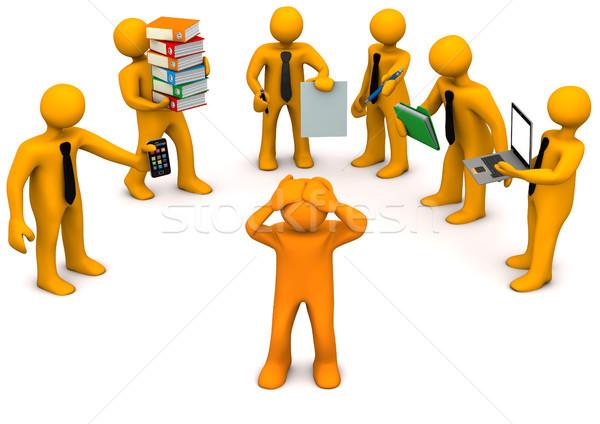 Stress At Work Stock photo © limbi007