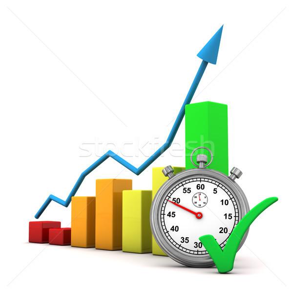 Grafico cronometro colorato verde business soldi Foto d'archivio © limbi007