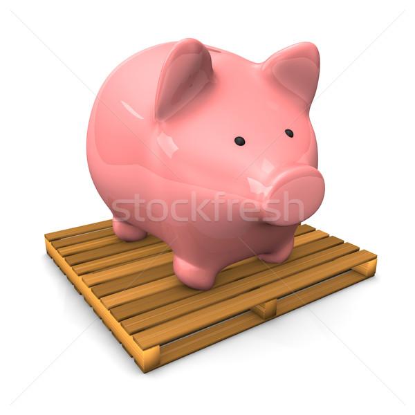 Piggy Bank Pallet Stock photo © limbi007