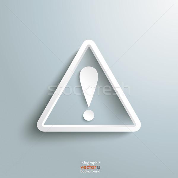 Triangle Exlamation Mark Stock photo © limbi007