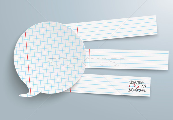Speech Bubble Checked Paper Striped Lines Stock photo © limbi007