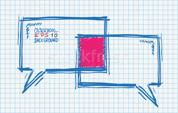 Compass Checked School Paper Stock photo © limbi007