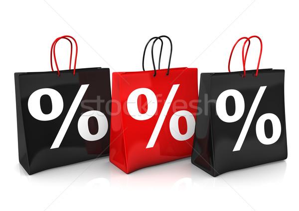 3 Shopping Bags Percents Stock photo © limbi007