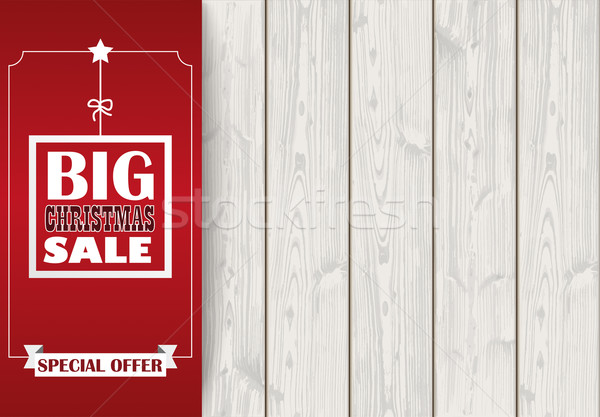 Side Oblong Banner Christmas Sale Wood Stock photo © limbi007