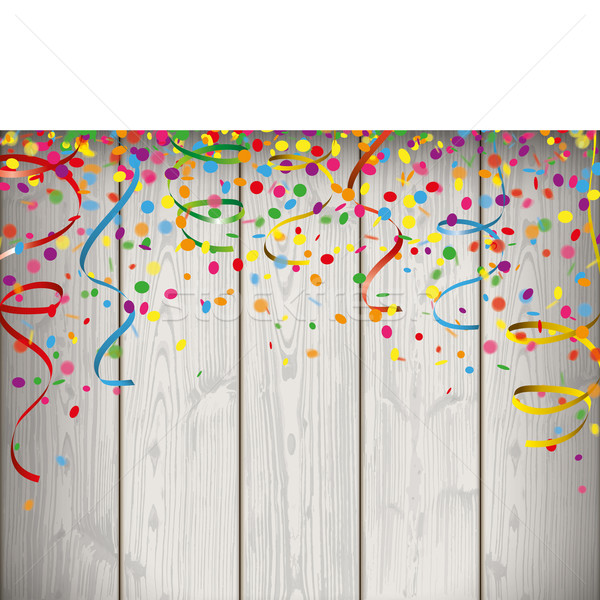 Carnival Confetti Ribbons Banner Stock photo © limbi007