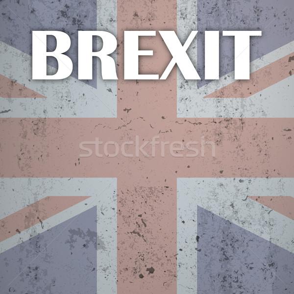 Concrete UK Flag Brexit Stock photo © limbi007