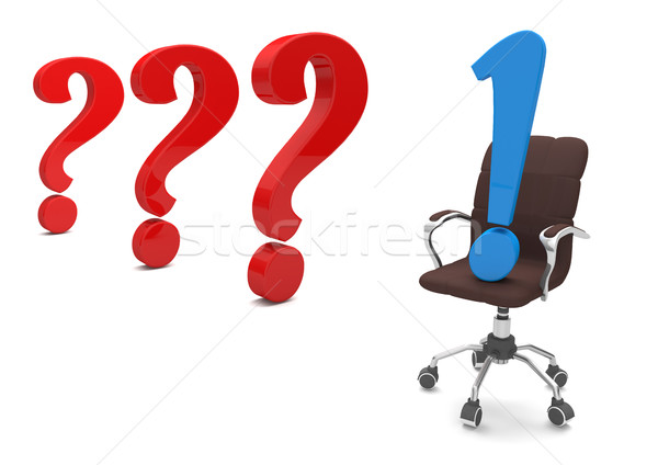 Swivel Chair Questions Answer Stock photo © limbi007