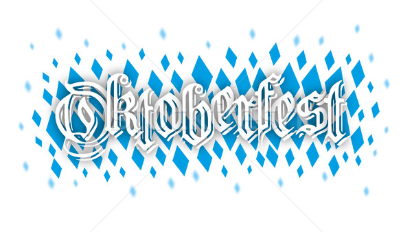 Oktoberfest Blue Rhombus Confetti SH Stock photo © limbi007