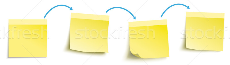 Progressive Work Yellow Sticks Blue Arrows Header SH Stock photo © limbi007
