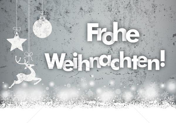 christmas concrete caribou bauble snowfall frohe. Black Bedroom Furniture Sets. Home Design Ideas