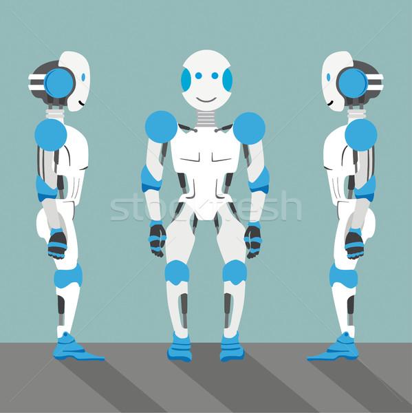 Cartoon Robots Side Stock photo © limbi007