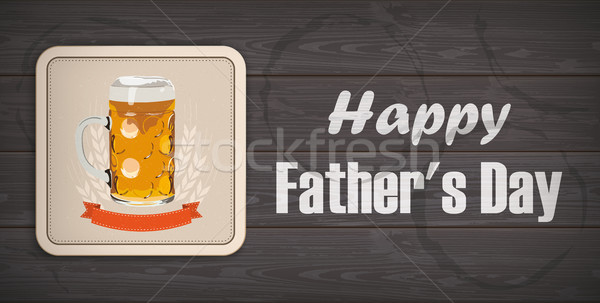 Dark Wooden Background Beer Fathers Day Stock photo © limbi007