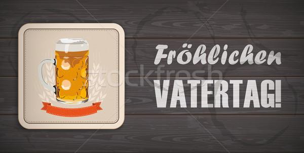 Dark Wooden Background Beer Vatertag Stock photo © limbi007