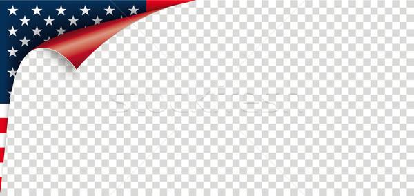 Sarok USA zászló papír borító átlátszó Stock fotó © limbi007