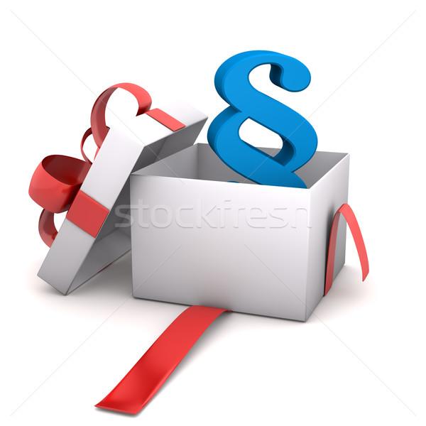 Gift Paragraph Stock photo © limbi007