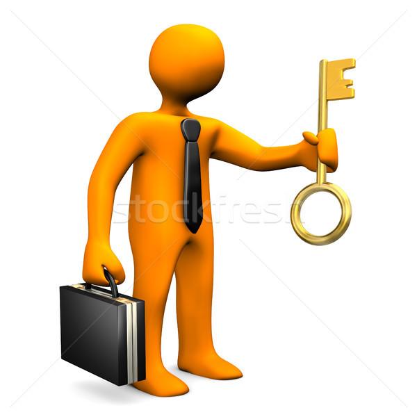 Businessman Golden Key Stock photo © limbi007