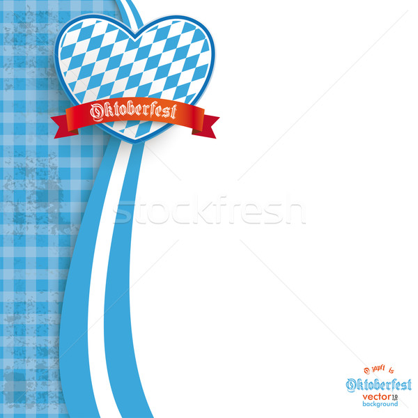 Blue Cloth Oktoberfest Heart Stock photo © limbi007