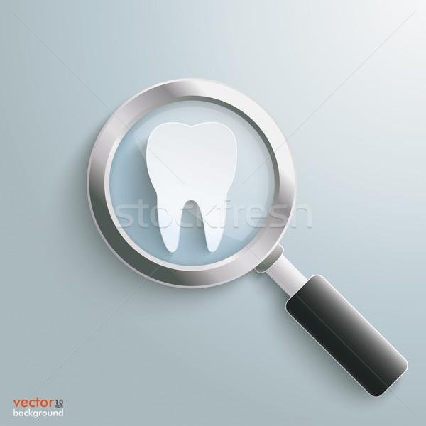 Loupe White Tooth Stock photo © limbi007