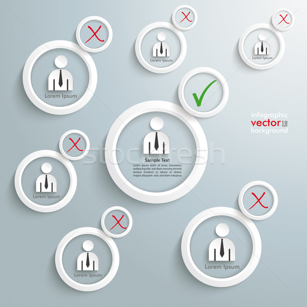 Recruitment Infographic White Rings Stock photo © limbi007