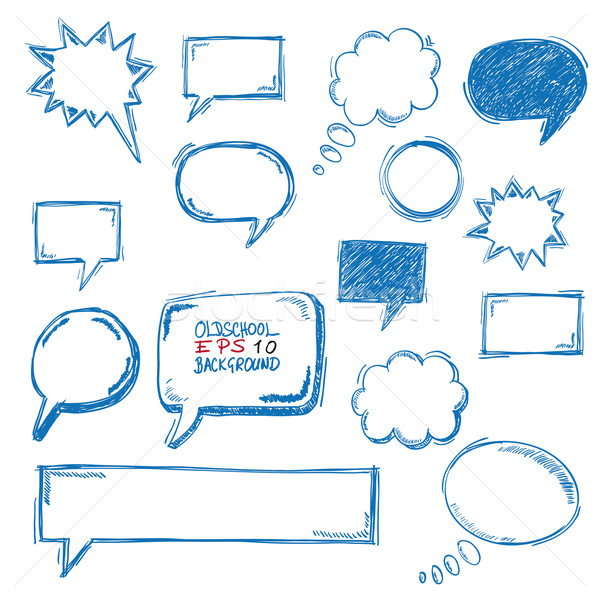 Oldschool Speech Bubbles Stock photo © limbi007